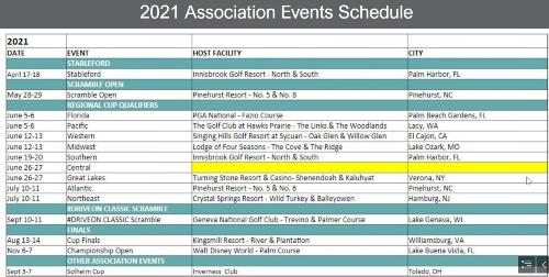 2021 LPGA Calendar