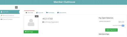 Member Clubhouse Screenshot