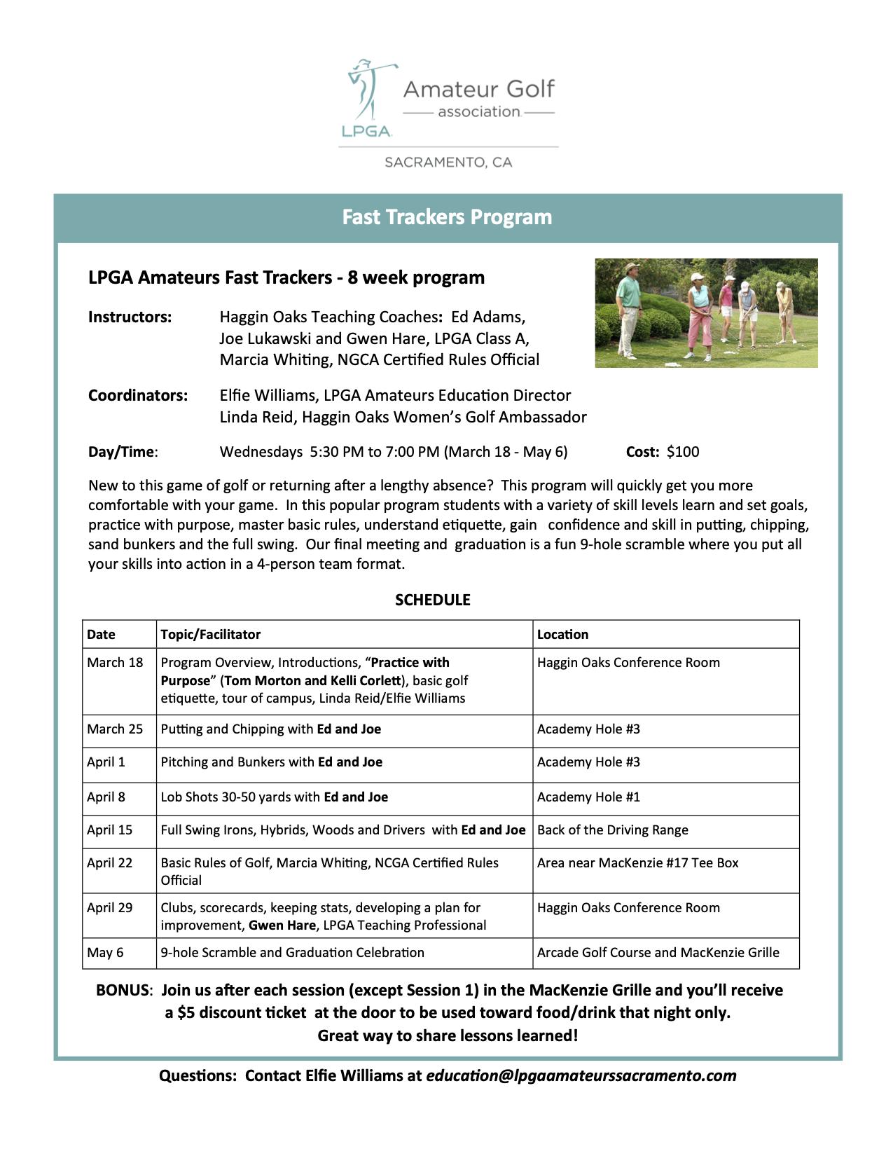 Schedule 2020 Fast Trackers Program Description FINAL