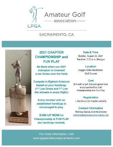 2021 Chapter Championship flyer