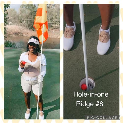 Bernadette Makes a Hole In One!