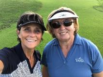 Bobbie and Carol at Covered Bridge (2)