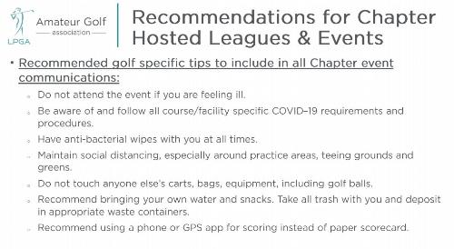 Covid19 Recommendations for Member play