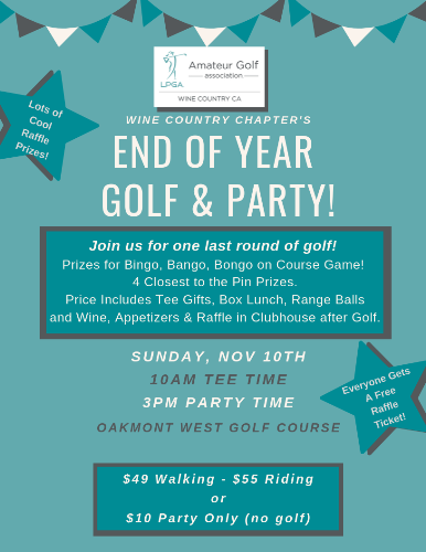 End of Year Golf &Party!