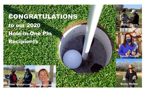 Hole in One Pin recipients