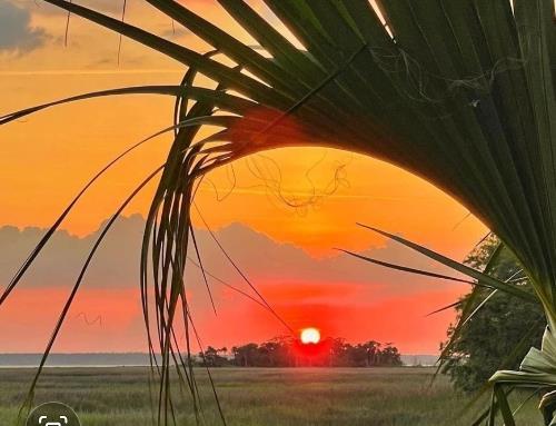 horizontal sunset