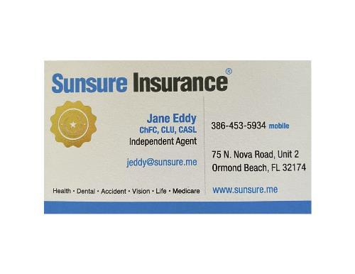 Jane Eddy Sunsure Insurance