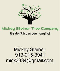 KC Sponsor- Mickey Steiner Tree Co