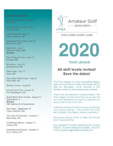 LPGA Tour League 2020 Flyer