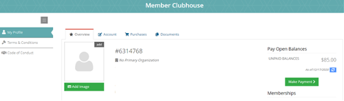 Member Clubhouse Screenshot