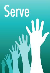 raised hands - SERVE
