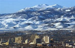 Reno and mountains