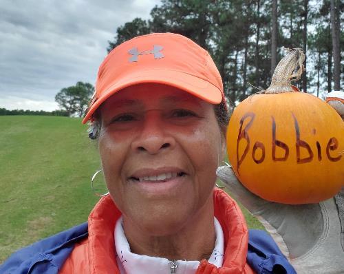 resize Great Pumpkin Bobbie selfie