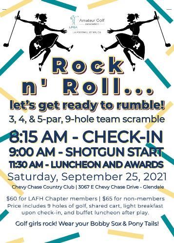 Rock 'n Roll Golf flyer
