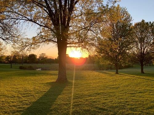 Sunset at Downers Grove Golf Club - May 12, 2021