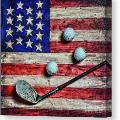 vintage-8-iron-and-golf-balls-on-american-flag-square-format-paul-ward-canvas-print
