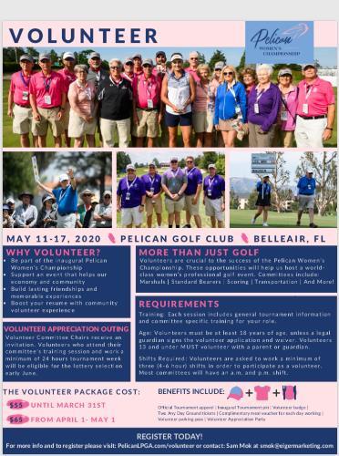 Volunteer for lpga Pelican Tournament